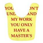 only a masters degree Bib