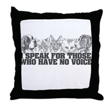 Animal Voice Throw Pillow