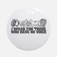 Animal Voice Ornament (Round)