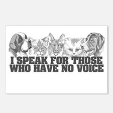 Animal Voice Postcards (Package of 8)