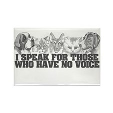 Animal Voice Rectangle Magnet