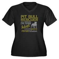 Pit Bull Rescuer Vintage Style Plus Size T-Shirt