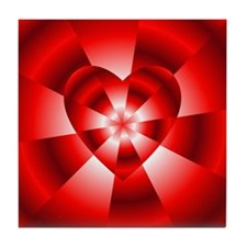 Red Radiance Tile Coaster