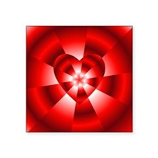 "Red Radiance Square Sticker 3"" x 3"""
