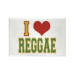 I Love Reggae Rectangle Magnet (10 pack)