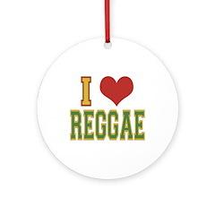I Love Reggae Ornament (Round)