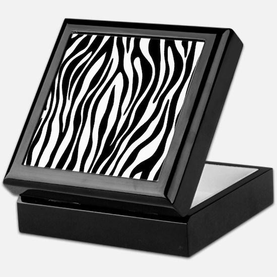 Cute Zebra Keepsake Box