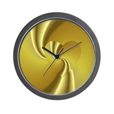 Gold Swirl Wall Clock