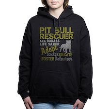 Pit Bull Rescuer Vintage Women's Hooded Sweatshirt