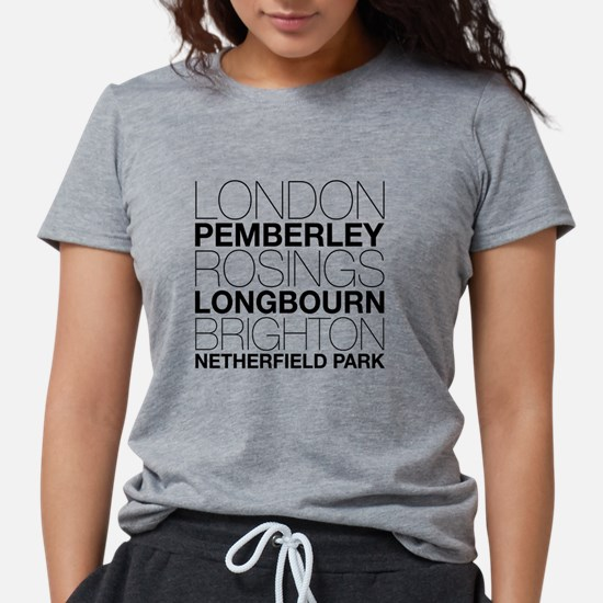 Pride and Prejudice Locations T-Shirt