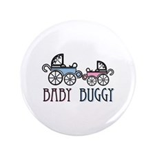"""Baby Buggy 3.5"""" Button"""