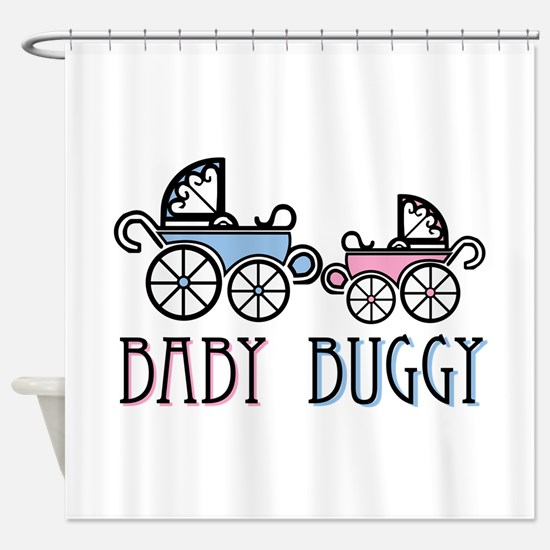 Baby Buggy Shower Curtain