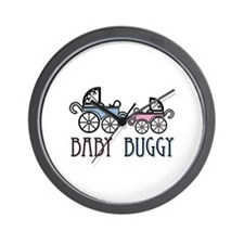 Baby Buggy Wall Clock