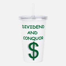 dividends Acrylic Double-wall Tumbler