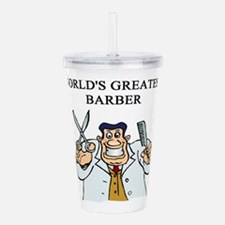 worlds greatest barber Acrylic Double-wall Tumbler