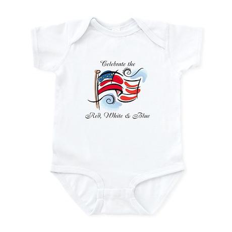 Red, White & Blue Infant Bodysuit