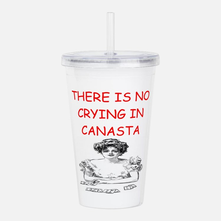Canasta Player Gifts Acrylic Double-Wall Tumbler