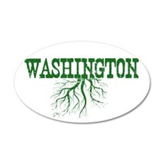 Washington Roots 20x12 Oval Wall Decal
