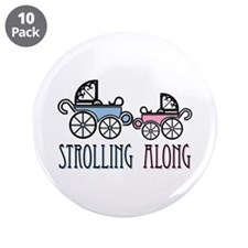 """Strolling Along 3.5"""" Button (10 pack)"""