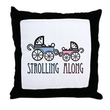 Strolling Along Throw Pillow