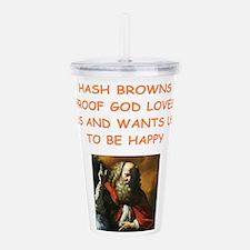 hash browns Acrylic Double-wall Tumbler