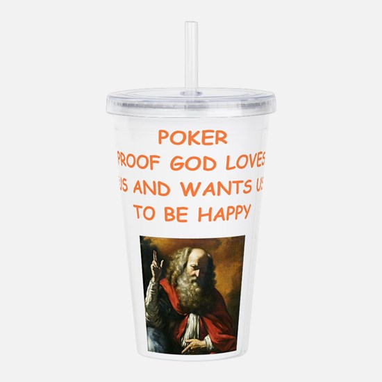 poker Acrylic Double-wall Tumbler