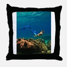 Funny The little mermaid ariel Throw Pillow
