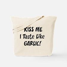 Kiss Me Garlic Tote Bag