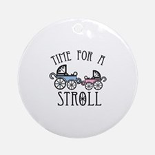Time For A Stroll Ornament (Round)