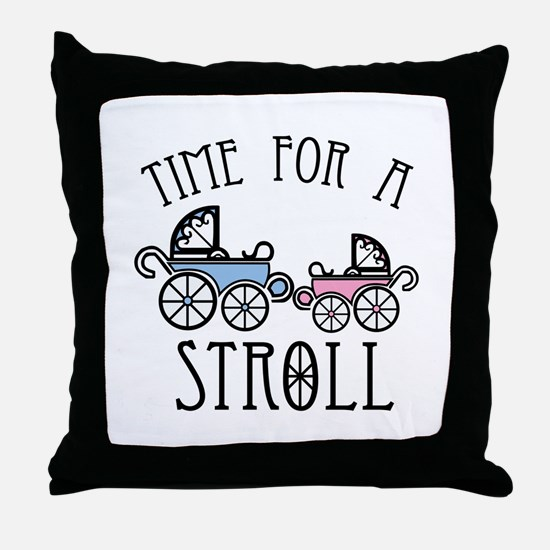 Time For A Stroll Throw Pillow