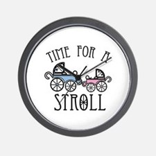 Time For A Stroll Wall Clock