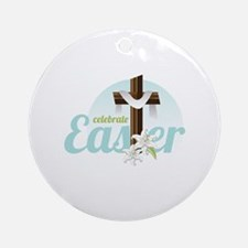 Celebrate Easter Ornament (Round)