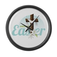 Celebrate Easter Large Wall Clock