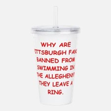 pittsburgh hater Acrylic Double-wall Tumbler