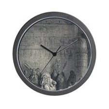 19th Century engraving by Paul Gustave  Wall Clock