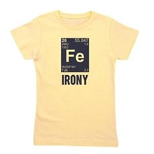 Ironic Chemical Element FE Irony Girl's Tee