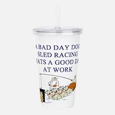 dog sled racing gifts apparel Acrylic Double-wall