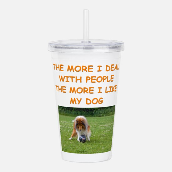 dog Acrylic Double-wall Tumbler