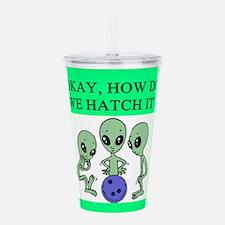 funny alien ufo area 51 bowling joke Acrylic Doubl