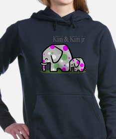 Cute Elephants (1) Women's Hooded Sweatshirt