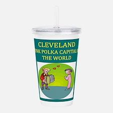cleveland ohio polka joke Acrylic Double-wall Tumb