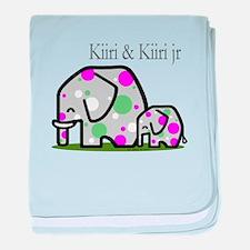 Cute Elephants (1) baby blanket
