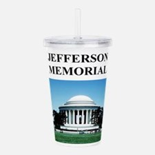 jefferson memorial gifts Acrylic Double-wall Tumbl