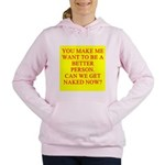 get naked Women's Hooded Sweatshirt