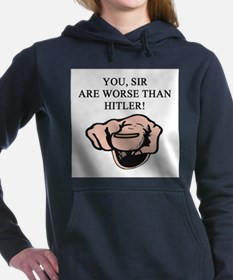 funny worse than hitler joke Women's Hooded Sweats