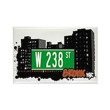 W 238 ST, Bronx, NYC Rectangle Magnet