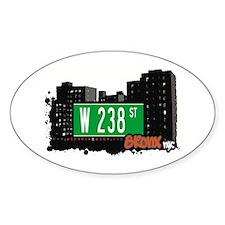 W 238 ST, Bronx, NYC Oval Decal