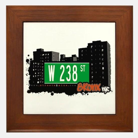 W 238 ST, Bronx, NYC Framed Tile