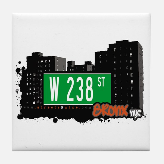 W 238 ST, Bronx, NYC Tile Coaster