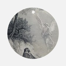 Gustave Dore. 19th cent. engraving. Round Ornament
